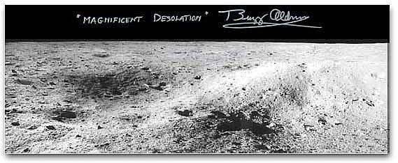 "Buzz Aldrin 'Apollo 11 Mangiest Desolation' 8"" x 20"" Panorama"