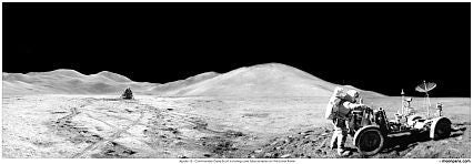 "Apollo 15 Panorama 23"" x 8"""