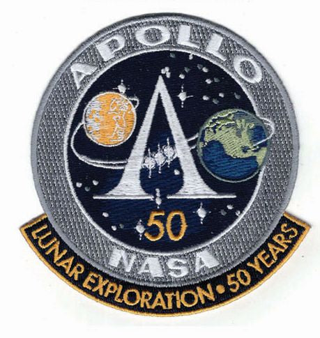 Apollo Lunar Exploration 50 Years Commemorative Patch