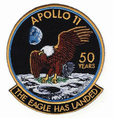 APOLLO 11 50th YEAR ANNIVERSARY 'THE EAGLE HAS LANDED' PATCH