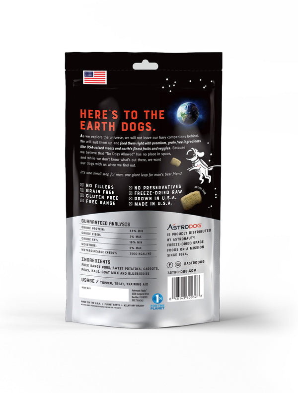 PORK FREEZE-DRIED DOG TREAT - ASTRODOG - 3 PACK - The Space Store