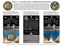 NEW!! Apollo 11 50th Anniversary Medallion from Winco, Official NASA Supplier