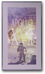 Apollo XVII Gene Cernan signed Commemorative Framed Poster