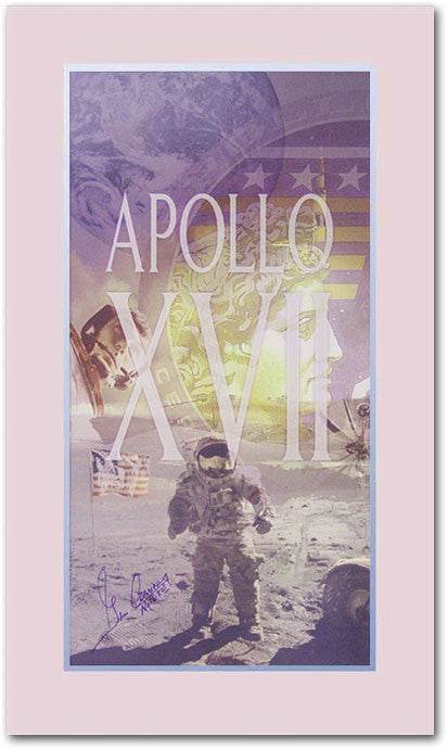Apollo XVII Gene Cernan signed Commemorative poster - The Space Store