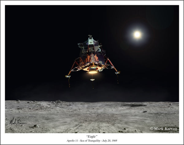 APOLLO 11 EAGLE  11 x 14 or 16 x 24 - The Space Store