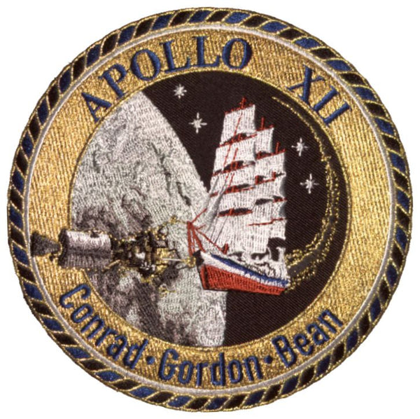 "Apollo 12 Commemorative 5"" Mission Patch - The Space Store"