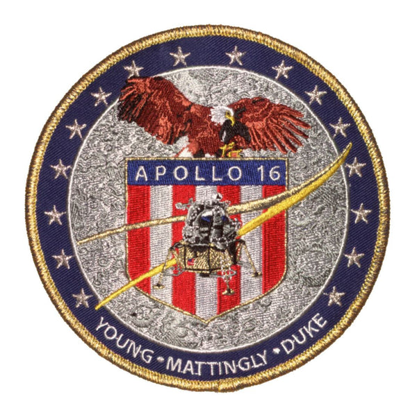 "Apollo 16 Commemorative 5"" Mission Patch - The Space Store"