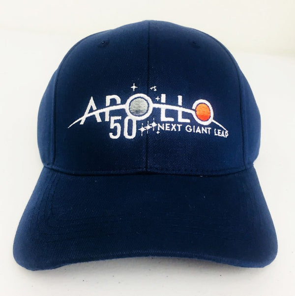 APOLLO 50th ANNIVERSARY CAP  (navy blue) - The Space Store