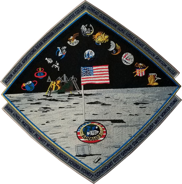 "Apollo Commemorative 12"" Mission Back Patch - The Space Store"