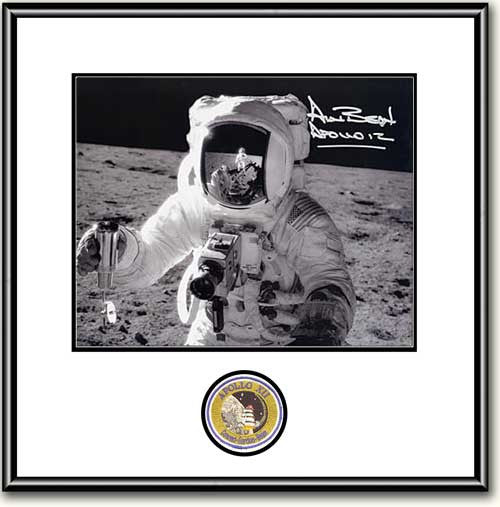 "Autographed & Framed 16"" x 20"" Alan Bean with Soil Sample - Photo - The Space Store"
