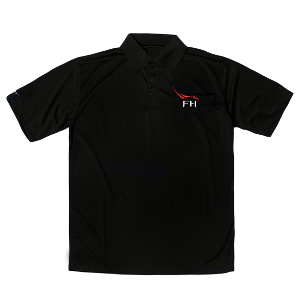 SPACEX FALCON HEAVY MEN'S POLO IN BLACK - The Space Store