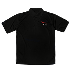 SPACEX FALCON HEAVY MEN'S POLO IN BLACK