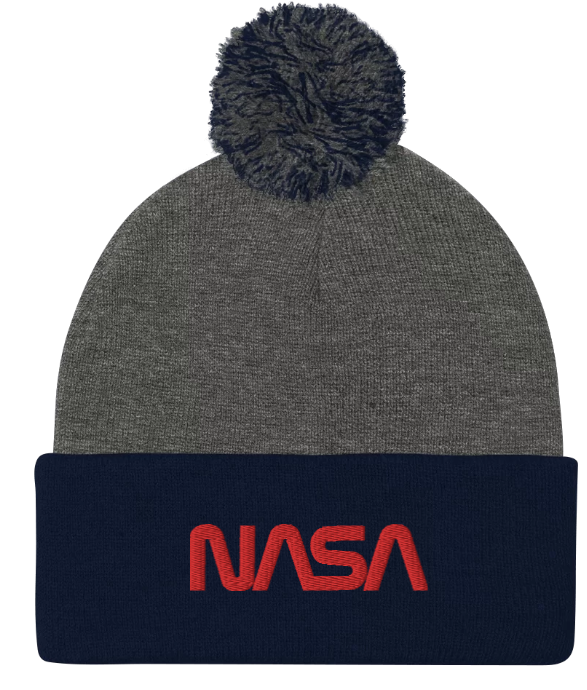 NASA worm (red) logo Beanie