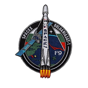 SPACEX BULGARIASAT 1 MISSION PATCH - The Space Store