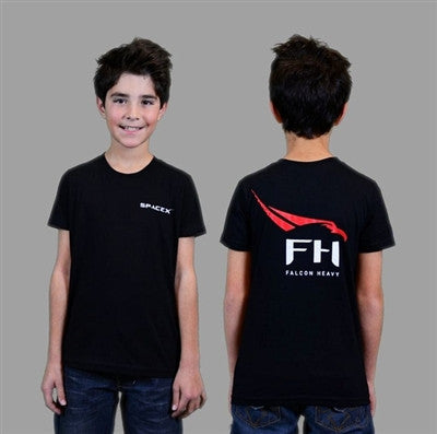 SpaceX Falcon Heavy T-Shirt (Black) - Youth