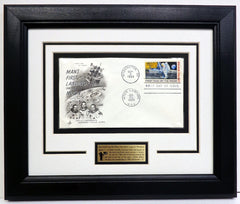 APOLLO 11 FIRST MAN - FIRST DAY COVER - FRAME PRESENTATION