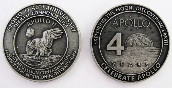Apollo 11 Medallion - The Space Store