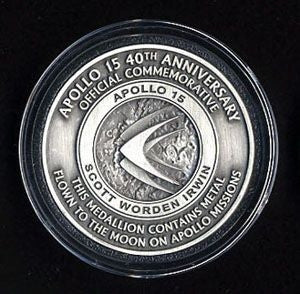 Apollo 15 Medallion - The Space Store