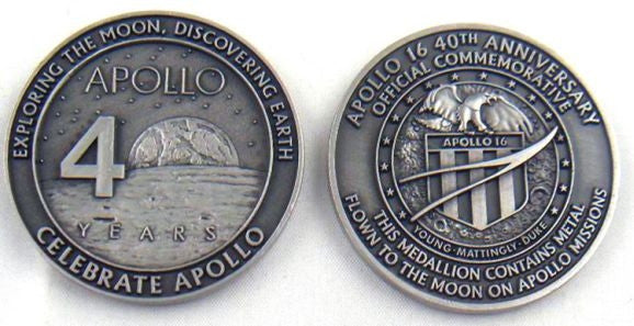 Apollo 16 Medallion - The Space Store