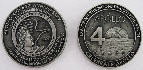 Apollo 17 Medallion - The Space Store