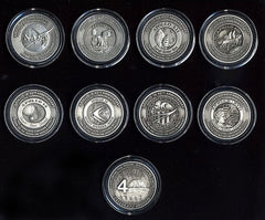 Apollo Medallion COMPLETE SET ALL 8! Medallion Collectors Set