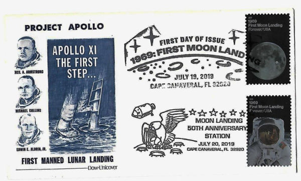 Apollo 11 'FIRST MANNED LUNAR LANDING' COVER. 50th ANNIVERSARY EDITION - The Space Store