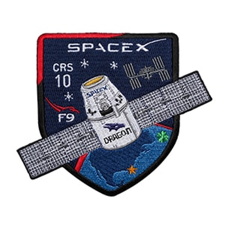 OFFICIAL SPACEX CRS-10 MISSION PATCH - The Space Store