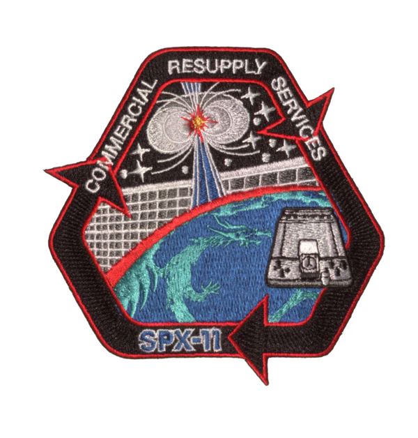 SpaceX CRS 11 Mission Patch - The Space Store