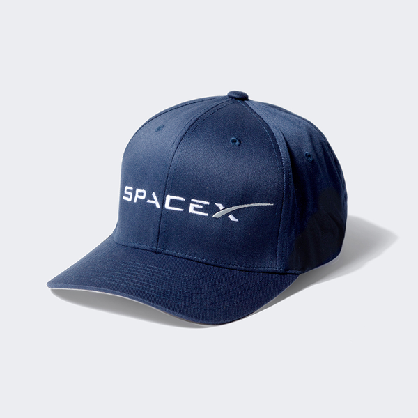 SPACEX FLEXFIT CAP IN NAVY BLUE   L/XL or S/M - The Space Store