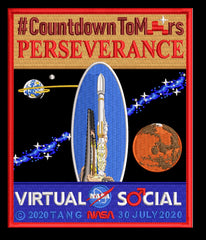 Countdown To Mars Virtual NASA Social Commemorative Patch by Artist Tim Gagnon