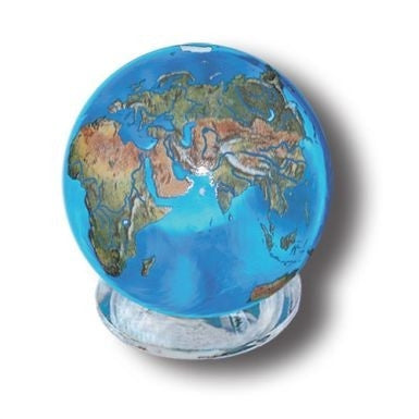 Crystal Earth Sphere (Small) with Stand