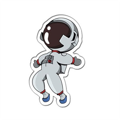"""Astronaut Boy"" Window Decal 3"" - Vinyl Decal - The Space Store"