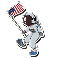 Astronaut Dad Auto Decal 4""
