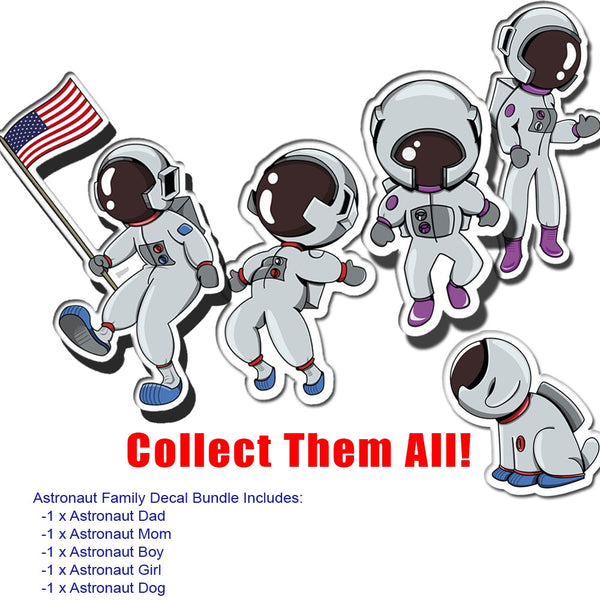 Astronaut Dad Auto Decal 4