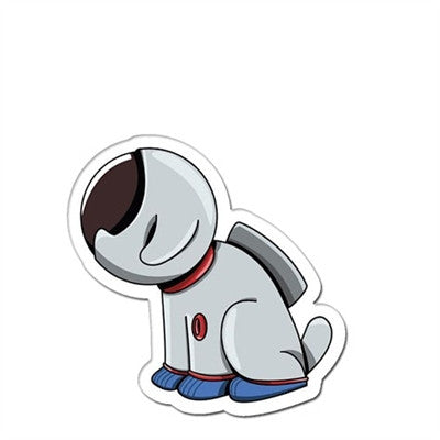 """Astronaut Dog"" Window Decal 2.5"" - Vinyl Decal - The Space Store"