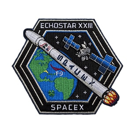 SPACEX ECHOSTAR XXIII MISSION PATCH - The Space Store