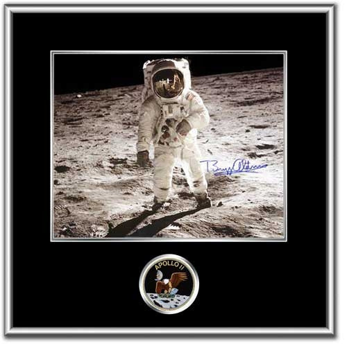 "Buzz Aldrin 'VISOR' Autographed & Framed 8"" x 10"" - Photo"