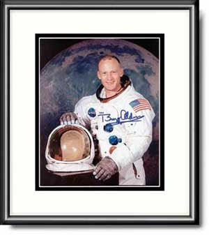 Autographed & Framed Photo of Buzz Aldrin's Potrait
