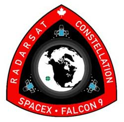 SPACEX RADARSAT MISSION PATCH