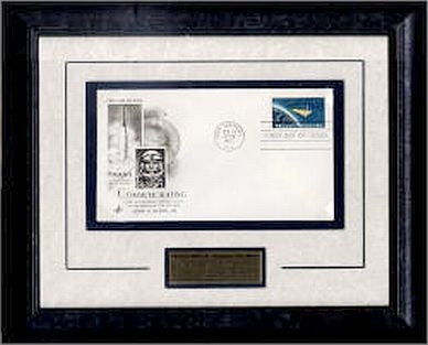 Project Mercury Framed Cachet