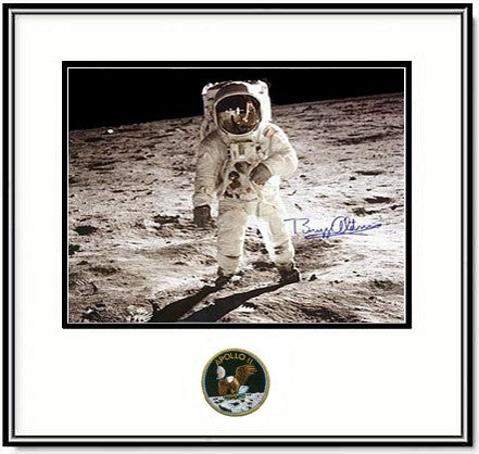 Autographed Buzz Aldrin Framed 16x20 Photo