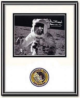 "Autographed & Framed 8"" x 10""  Photo of Alan Bean Soil Sample - Photo"