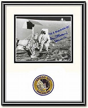 "Autographed & Framed 8"" x 10"" Photo of Alan Bean with Surveyor III - Photo"