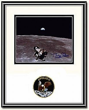 Autographed & Framed 8x10 Photo of Buzz Aldrin - Ascent