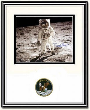 "Autographed & Framed 8"" x 10"" Photo of Buzz Aldrin's Visor - Photo"
