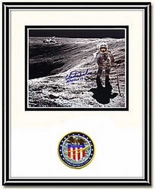 "Autographed & Framed 8"" x 10"" Photo of Charlie Duke Crater - Photo"