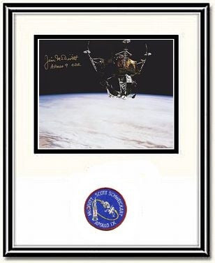 "Spider over Land' 8"" x 10 Autographed & Framed Photo - The Space Store"