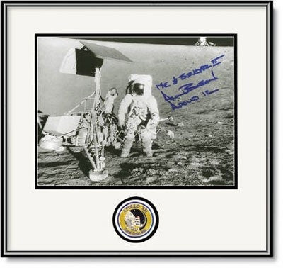 "Autographed & Framed 16"" x 20"" Photo of Alan Bean with Surveyor III - Photo"
