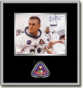 "Frank Borman 'Apollo 8 Suitup' 8"" x 10"" Autographed, Framed Photo (black mat)"