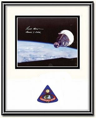 "Frank Borman 'Rendezvous'  8"" x 10"" Autographed, Framed Photo - The Space Store"